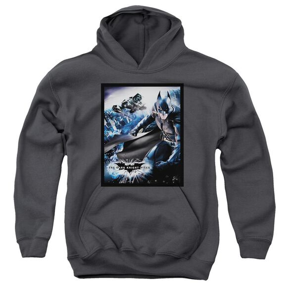 Dark Knight Rises Batwing Rises Youth Pull Over Hoodie