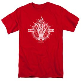 Constantine Damed To Hell Short Sleeve Adult Red T-Shirt