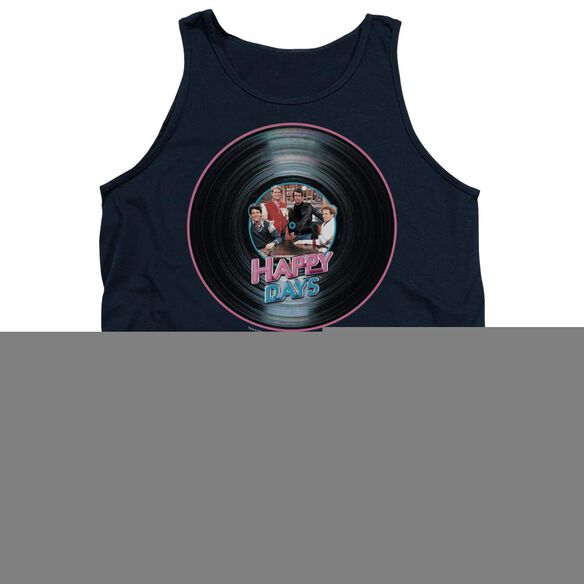 Happy Days On The Record - Adult Tank - Navy