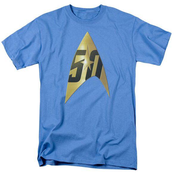Star Trek 50 Th Anniversary Delta Short Sleeve Adult Carolina T-Shirt