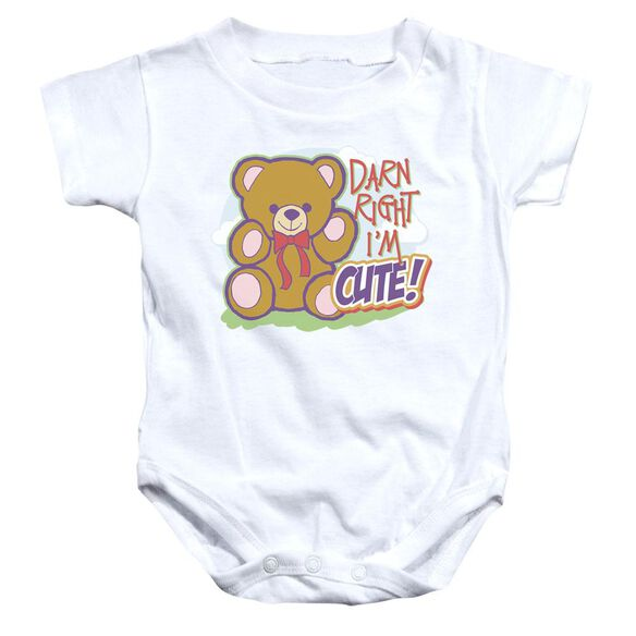 Darn Right Infant Snapsuit White Lg