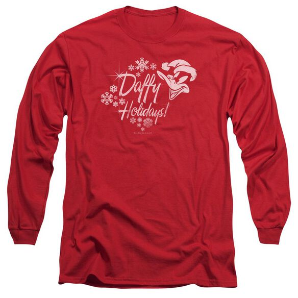 Looney Tunes Daffy Holidays Long Sleeve Adult T-Shirt