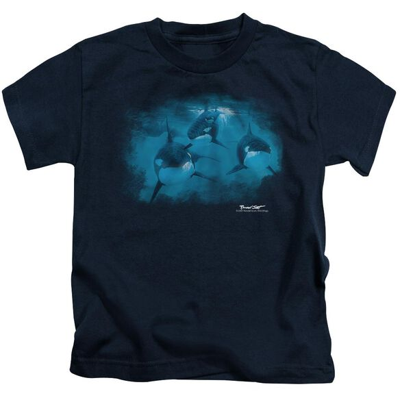 Wildlife Pod Of Orcas Short Sleeve Juvenile T-Shirt