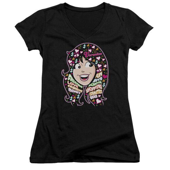 Archie Comics Inside Vs Head Junior V Neck T-Shirt