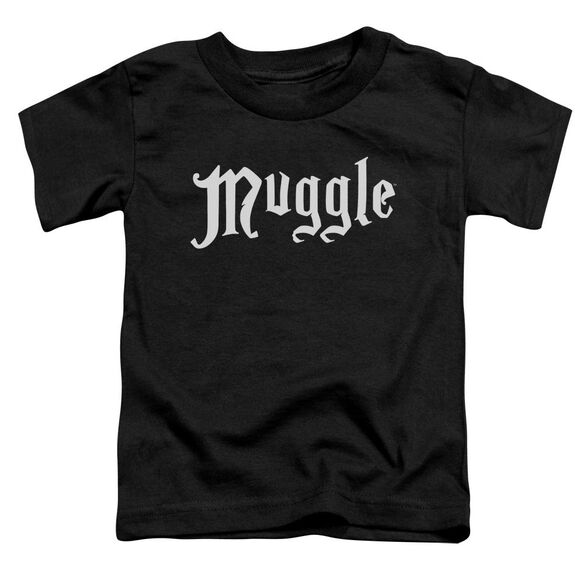 Harry Potter Muggle Short Sleeve Toddler Tee Black T-Shirt