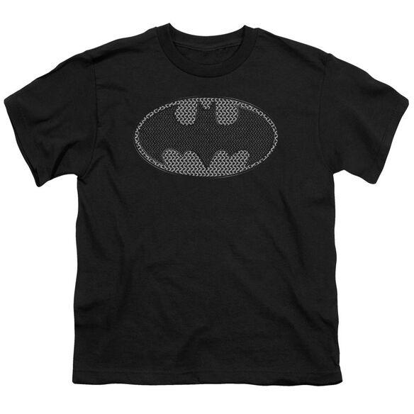 Batman Chainmail Shield Short Sleeve Youth T-Shirt