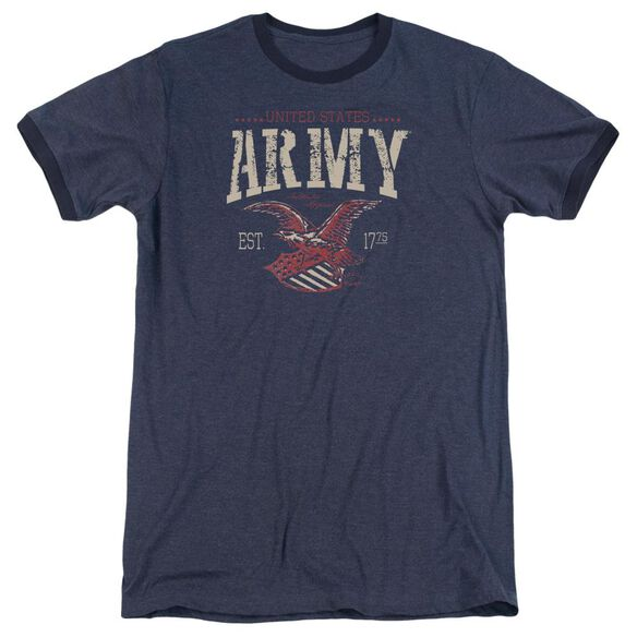 Army Arch Adult Heather Ringer Navy