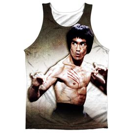 Bruce Lee Scratched Adult 100% Poly Tank Top