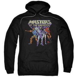 Masters Of The Universe Team Of Villains Adult Pull Over Hoodie Black