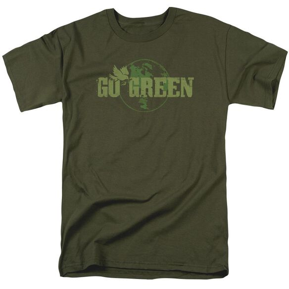 Go Green Short Sleeve Adult Military Green T-Shirt