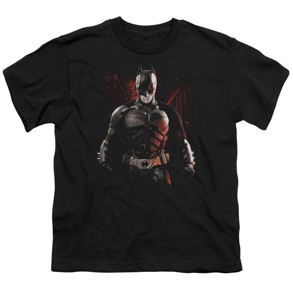 Dark Knight Rises Batman Battleground Short Sleeve Youth T-Shirt