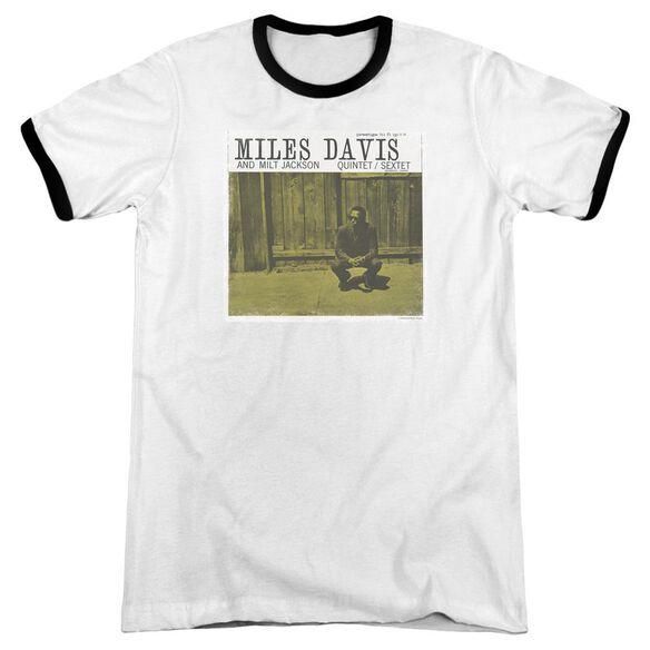 Miles Davis Miles And Milt Adult Ringer White Black