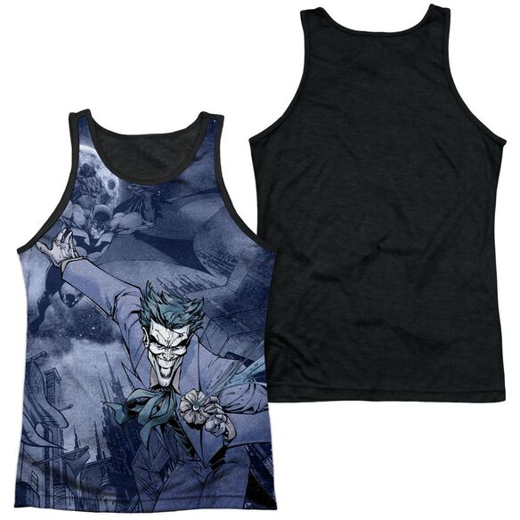 Batman Catch The Joker Adult Poly Tank Top Black Back