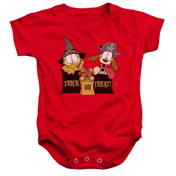 Garfield Trick Or Treat Infant Snapsuit Red