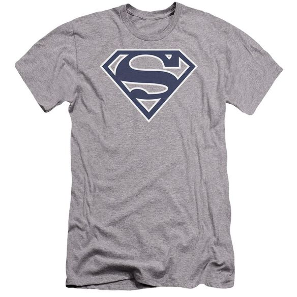 Superman Navy & White Shield Premuim Canvas Adult Slim Fit Athletic