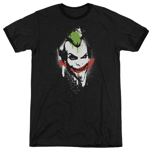 Arkham City Spraypaint Smile Adult Heather Ringer
