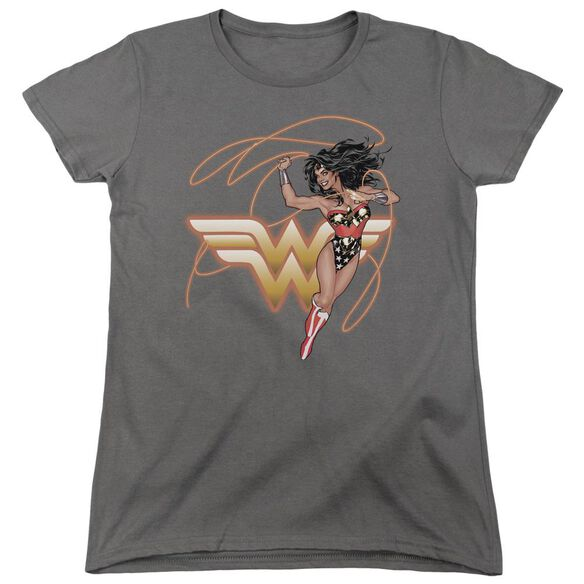 Jla Glowing Lasso Short Sleeve Womens Tee T-Shirt