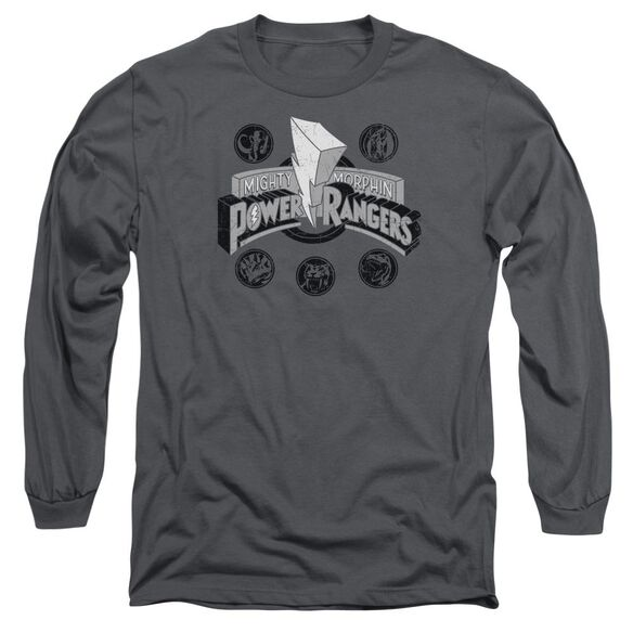 Power Rangers Power Coins Long Sleeve Adult T-Shirt