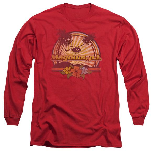 Magnum Pi Hawaiian Sunset Long Sleeve Adult T-Shirt