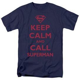 SUPERMAN CALL SUPERMAN - S/S ADULT 18/1 - NAVY T-Shirt