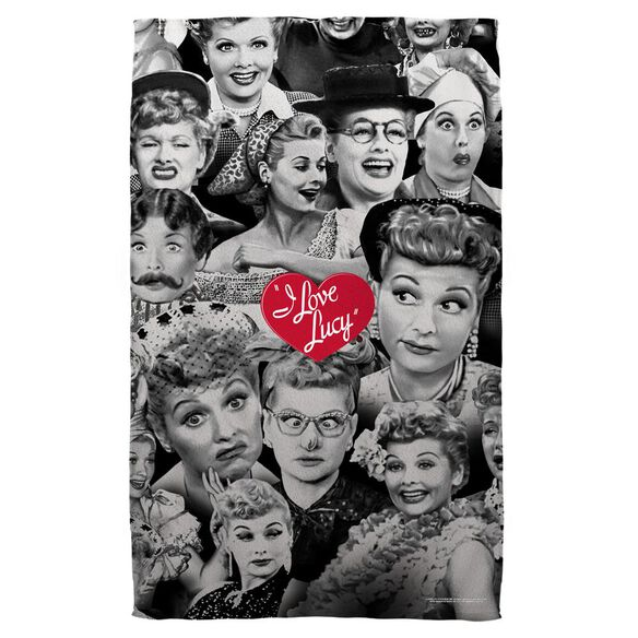 I Love Lucy Faces Golf Towel W Grommet