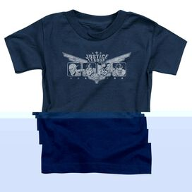 Jla Justice Wings Short Sleeve Toddler Tee Navy T-Shirt