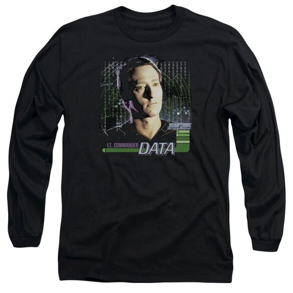 Star Trek Data Long Sleeve Adult T-Shirt