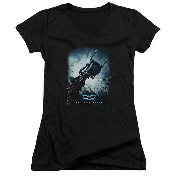 Dark Knight Bat Pod Poster Junior V Neck T-Shirt