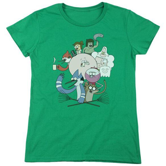 Regular Show Regular Cast Short Sleeve Womens Tee Kelly T-Shirt