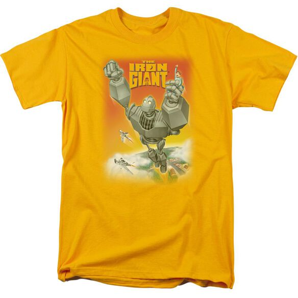Iron Giant Fly Away Short Sleeve Adult Gold T-Shirt