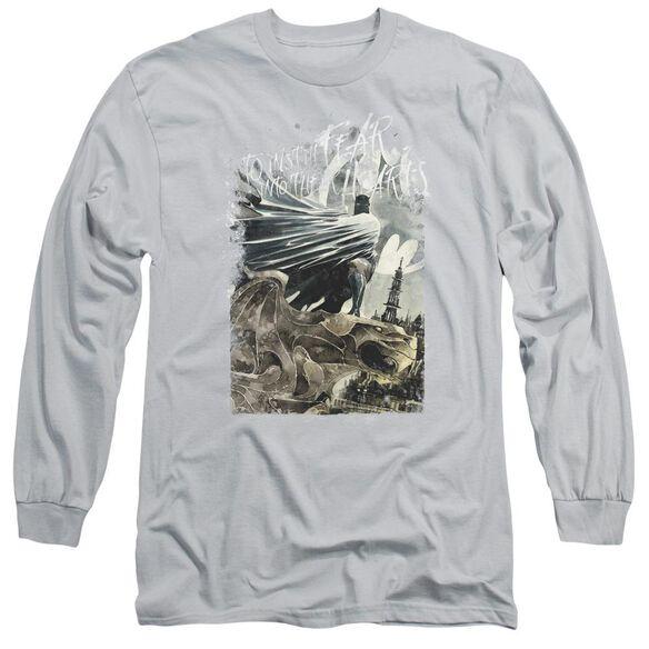 BATMAN INSTILL FEAR - L/S ADULT 18/1 - SILVER T-Shirt