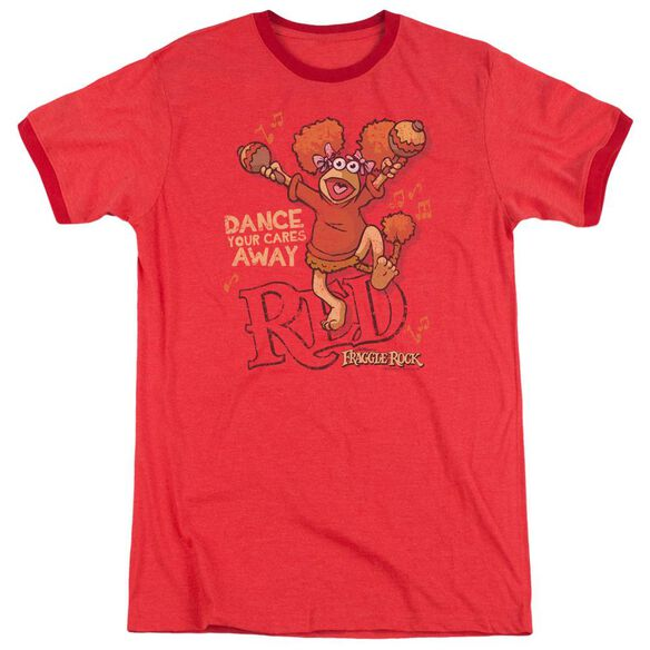 Fraggle Rock Dance Adult Heather Ringer Red