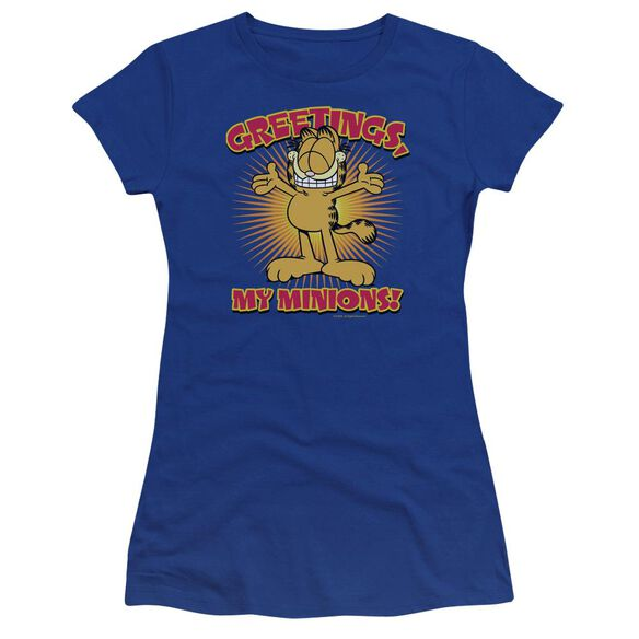 Garfield Minions Premium Bella Junior Sheer Jersey Royal