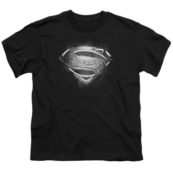 Man Of Steel Contrast Symbol Short Sleeve Youth T-Shirt