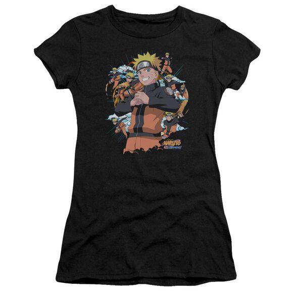 Naruto Shippuden Shadow Clone Short Sleeve Junior Sheer T-Shirt
