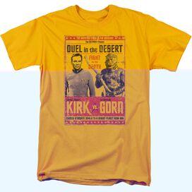 STAR TREK DUEL IN THE DESERT - S/S ADULT 18/1 - GOLD T-Shirt