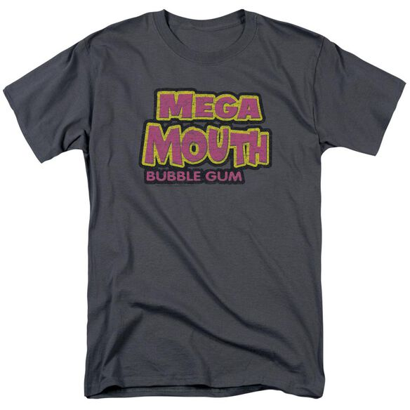 Dubble Bubble Mega Mouth Short Sleeve Adult Charcoal T-Shirt