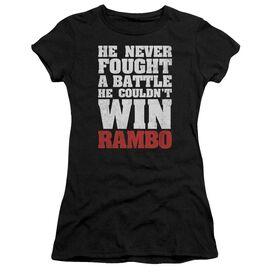 Rambo:First Blood He Never Short Sleeve Junior Sheer T-Shirt