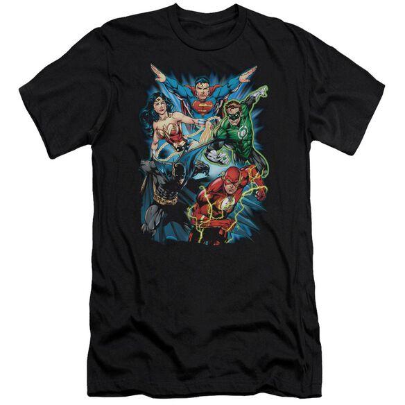 Jla Jl Assemble Short Sleeve Adult T-Shirt