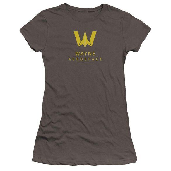 Justice League Movie Wayne Aerospace Hbo Short Sleeve Junior Sheer T-Shirt