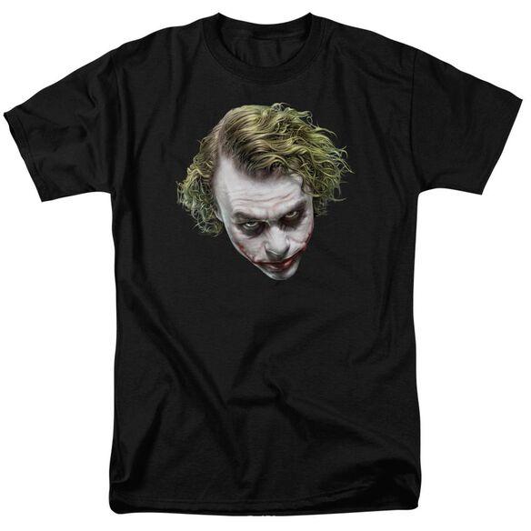 Dark Knight Painted Joker Head Short Sleeve Adult T-Shirt