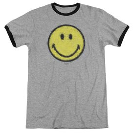 Smiley World Paper Jam Adult Ringer Heather Black