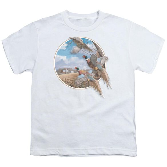 Wildlife October Memories Pheasants Short Sleeve Youth T-Shirt