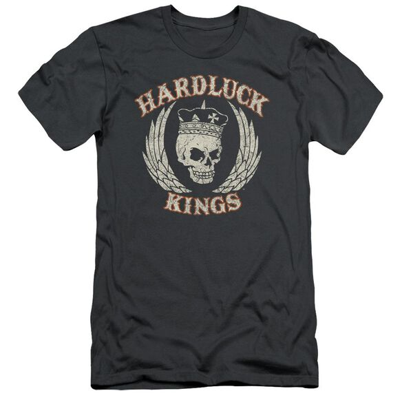 Hardluck Kings Red Cream Distressed Short Sleeve Adult T-Shirt