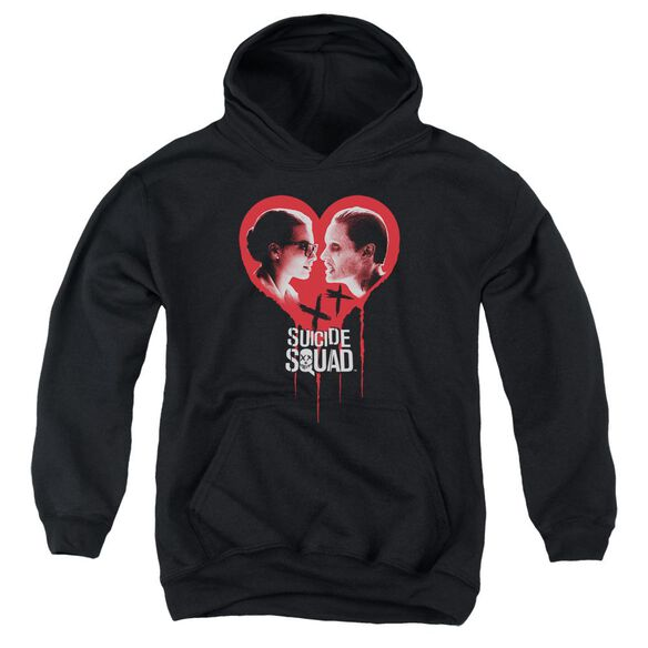 Suicide Squad Joker Spits Game Youth Pull Over Hoodie