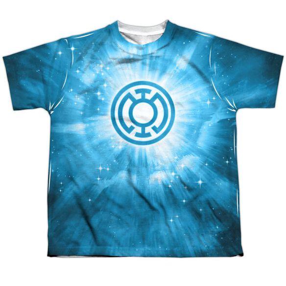 Green Lantern Blue Energy Short Sleeve Youth Poly Crew T-Shirt