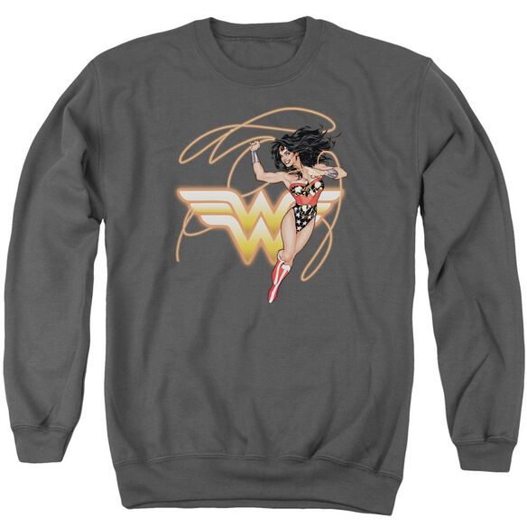 Jla Glowing Lasso Adult Crewneck Sweatshirt
