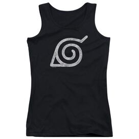Naruto Shippuden Distressed Leaves Symbol Juniors Tank Top