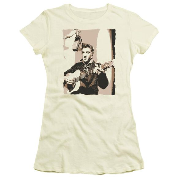 Elvis Sepia Studio Short Sleeve Junior Sheer T-Shirt