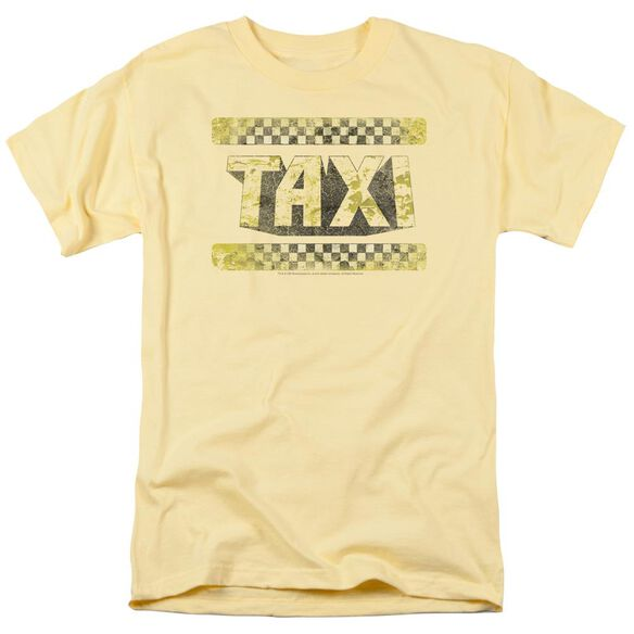 Taxi Run Down Taxi Short Sleeve Adult Yellow T-Shirt